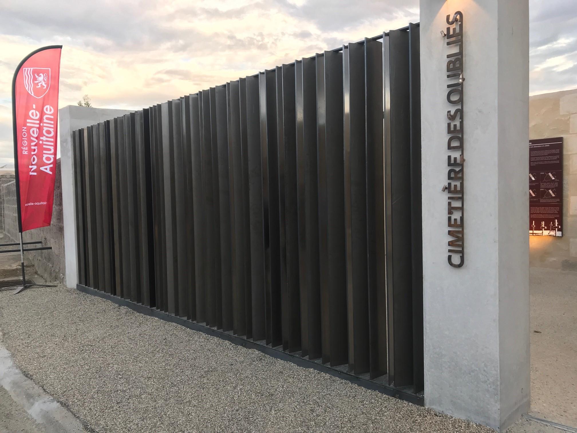 Chantier du mois : ferronnerie Cimetière des Oubliés de Cadillac